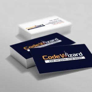 עיצוב כרטיסי ביקור לעסק הדרכה ותכנות קוד