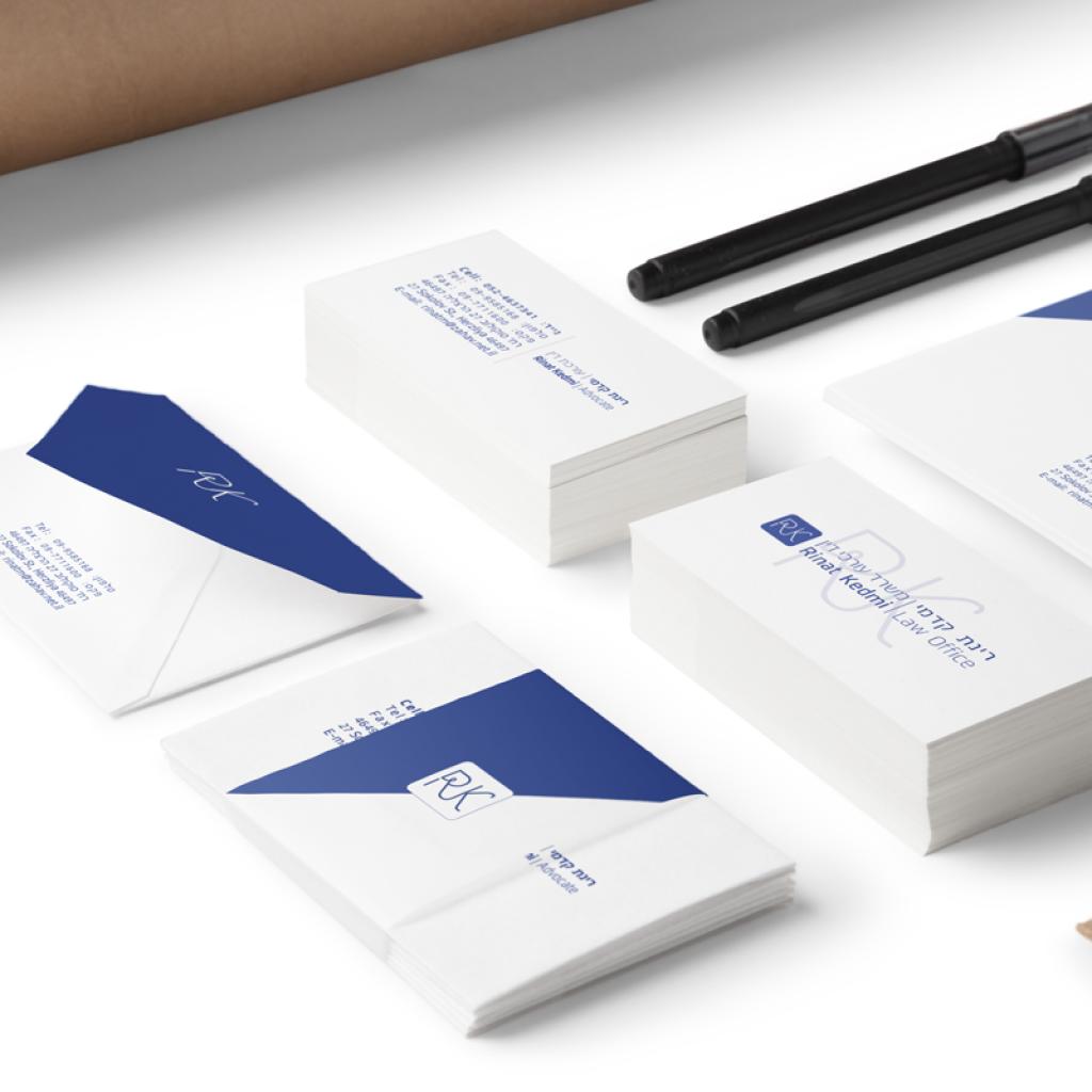 עיצוב-לוגו-לעורך-דין, עורכת דין רינת קדמי, ועיצוב כרטיס ביקור
