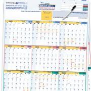 לוח שנה מחיק גדול דו-צדדי ל 2017-2018
