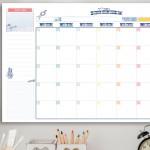לוח שנה חודשי להדפסה