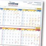 לוח תכנון עברי ענקי 2018-2019