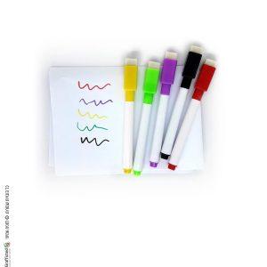טושים מחיקים צבעוניים- מארז 5 צבעים