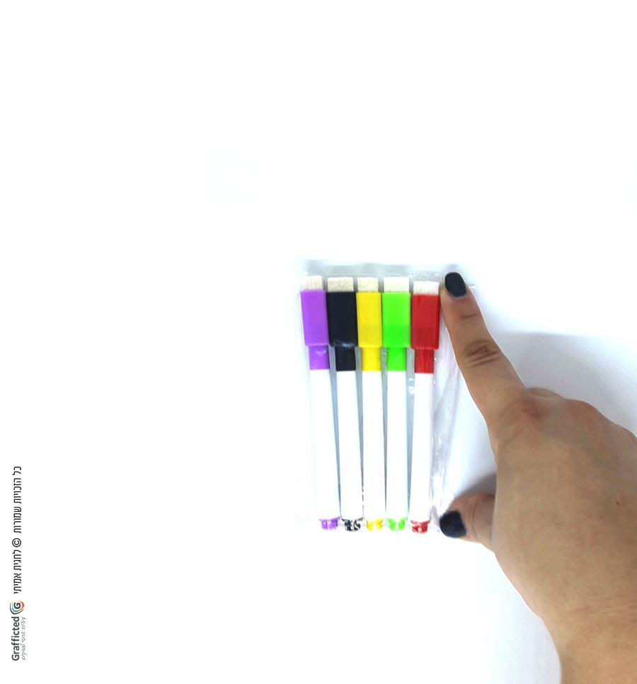 טושים צבעוניים מחיקים
