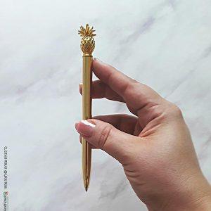 עט אננס זהב