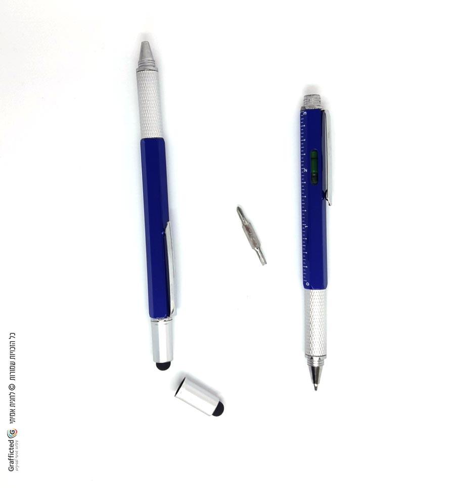 עט פלס עם מברג, פיליפס, סרגל וסטיילוס - כחול