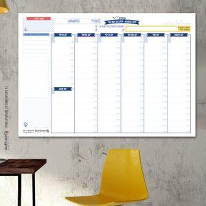 לוח תכנון שבועי מחיק גדול 100X70סמ