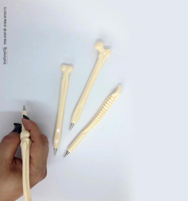 עט לרופא בצורת עצמות