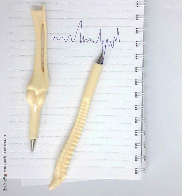 עט מתנה לרופא סט עטים עצמות
