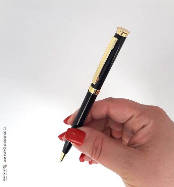 עט-שחור-וזהב-עט-כדורי-כחול