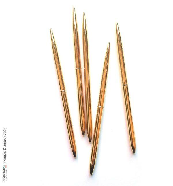 מארז 5 עטי זהב